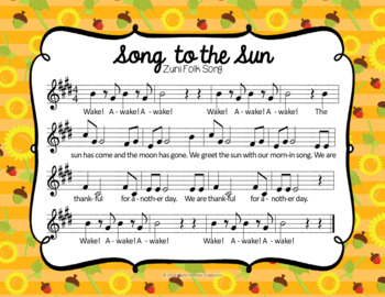 Song to the Sun - Thanksgiving Folk Song with Rhythmic Accompaniment