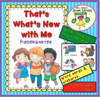 """Song—""""That's What's New with Me"""" Lesson Plan and word cards"""