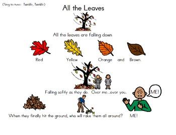 All the Leaves - Emergent Reader and Songboard