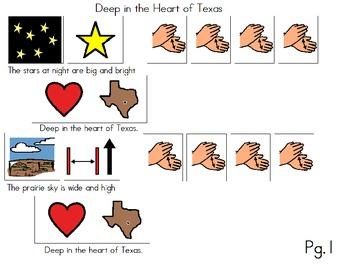 "Songboard - ""Deep in the Heart of Texas"""