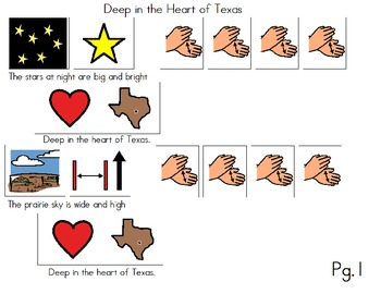 "Songboard - ""Deep in the Heart of Texas"""