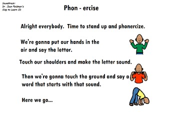 """Songboard - Dr. Jean's """"Phonercise"""""""