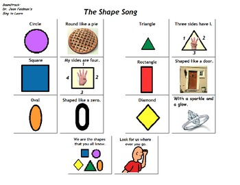 "Songboard - Dr. Jean's ""The Shape Song"