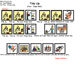 """Songboard - Dr. Jean's """"Tidy Up"""""""