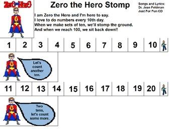 "Songboard - Dr. Jean's ""Zero the Hero"""