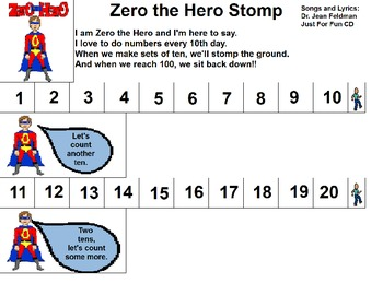 "Songboard - Dr. Jean's ""Zero the Hero"""