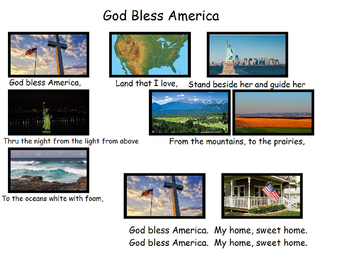 Songboard - God Bless America