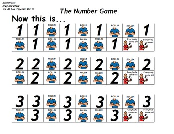 """Songboard - Greg and Steve's """"The Number Game"""""""