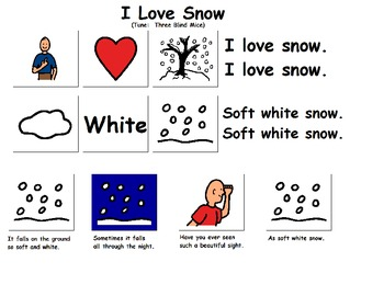 "Songboard - ""I Love Snow"""