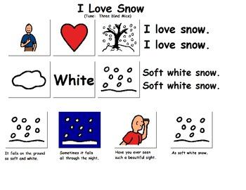 "Songboard - ""I Love Snow"""