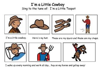 Songboard - I'm a Little Cowboy