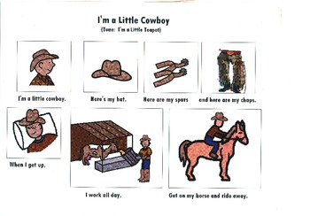 Songboard - I'm a Little Cowboy