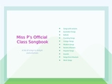 Songbook for Primary Students