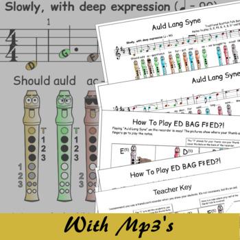 Auld Lang Syne - Recorder Sheet Music