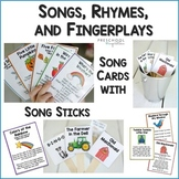 Songs, Chants, Nursery Rhymes, and Fingerplays with Song Sticks