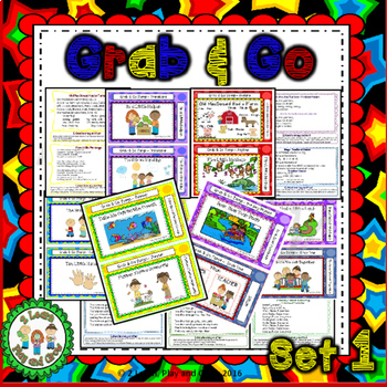 Songs, Fingerplays, and Nursery Rhyme Cards Bundle Sets 1-3 for Circle Time