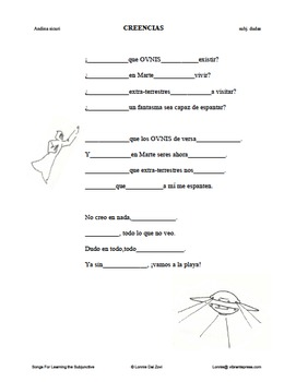 Songs For Learning the Subjunctive 8 Packet Bundle