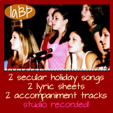 Secular Holiday songs with accompaniment tracks