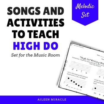 Songs and Activities to Teach High Do in the Music Room