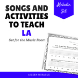 Songs and Activities to Teach La in the Music Room
