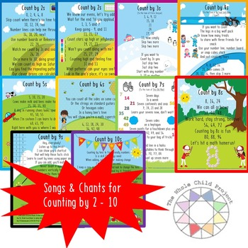 Songs and Chants for Learning to Count by 2s-10s