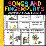 Songs & Fingerplays Bundle: 11 Adapted Books for Students with Autism
