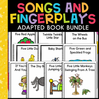 Songs and Fingerplays Adapted Book Bundle: 8 Adapted Books