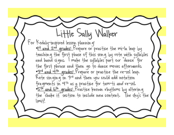 Songs for Black History Month: Little Sally Walker