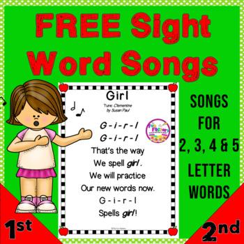 Sight Word Songs {FREE!!} Sampler