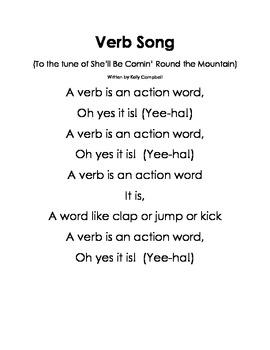 Songs for Nouns, Verbs & Adjectives