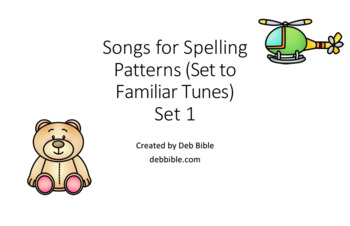 Songs for Spelling Patterns (Supplements Jolly Phonics)