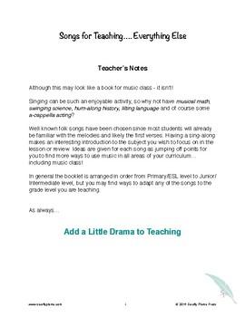 Songs for Teaching... Everything Else