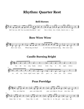Songs for Teaching Quarter Rest