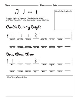 Songs for Teaching Quarter Rest