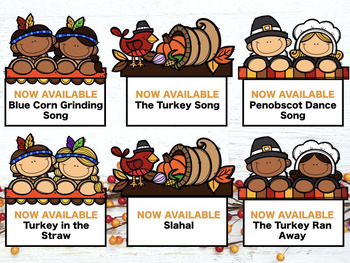Songs for Thanksgiving, Autumn and Beyond, set #2 {A Growing Bundle}