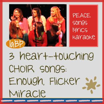 Choir songs that inspire! 3 studio recorded song tracks, w/lyrics, accompaniment