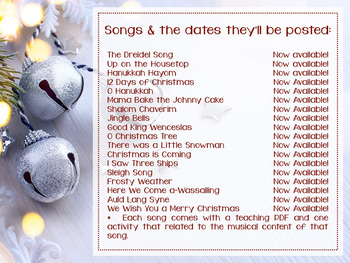 Songs for the Holidays, Winter & Beyond {2015 Set}