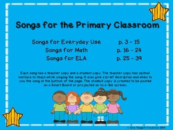 Songs for the Primary Classroom