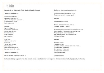 Songs for the Spanish Classroom 1 (Lo mejor de mi vida eres tú by Ricky Martín)