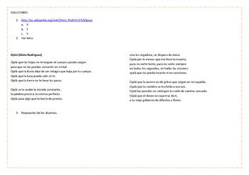 Songs for the Spanish Classroom 4 (Ojalá by Silvio Rodríguez)