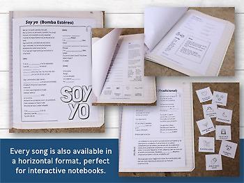 Songs in Spanish: Spanish 1 Activities and Lyrics Growing Bundle