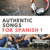 Songs in Spanish: Spanish 1 Activities and Lyrics Growing Bundle