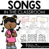 Songs in the Kindergarten Classroom