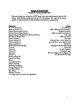 Songs of America Musical Class Play