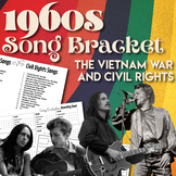 Songs of Protest Bracket Civil Rights and Vietnam War 1960s Distance Learning