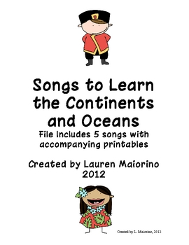 Songs to Learn the Continents and Oceans