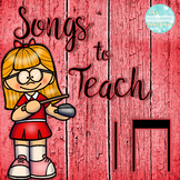 Songs to Teach Quarter Note and Eighth Notes Bundle