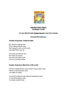 Songs to use with the book Chicken Soup