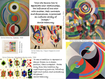 Sonia Delaunay artist research & analysis worksheet