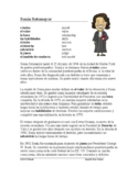 Sonia Sotomayer Biografía: Spanish Biography + Worksheet